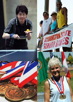 Photo of various events in the Senior Games